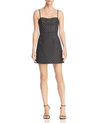 French Connection - Whisper Polka Dot Sweetheart Mini Dress - Lyst