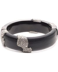 Alexis Bittar - Crystal Accented Lucite Hinge Bracelet - Lyst
