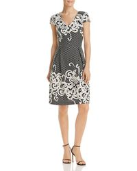 Adrianna Papell - Knit Patterned Dress - Lyst