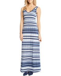 Karen Kane - Side-slit Ikat Maxi Dress - Lyst
