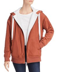 Kenneth Cole - Faux Shearling-lined Hoodie - Lyst