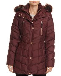 Marc New York - Marley Faux Fur Trim Puffer Coat - Lyst