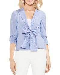 Vince Camuto - Ruched-sleeve Striped Blazer - Lyst