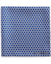 Turnbull & Asser - Circle And Triangle Pocket Square - Lyst