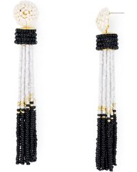 Aqua - Tassel Earrings - Lyst