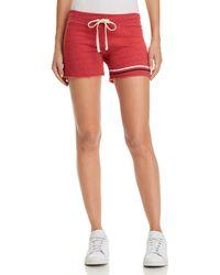 Sundry - Stripe-detail Drawstring Shorts - Lyst