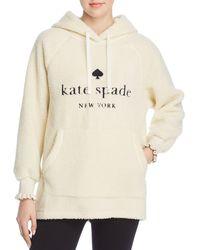 Kate Spade - Logo Sherpa Hoodie - Lyst