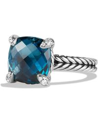 David Yurman | Châtelaine Ring With Hampton Blue Topaz And Diamonds | Lyst