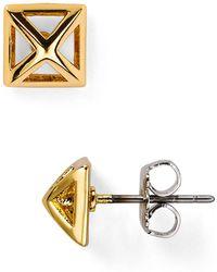 Rebecca Minkoff - Pyramid Cut-out Stud Earrings - Lyst