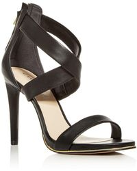 Kenneth Cole - Women's Brooke Leather Crisscross High-heel Sandals - Lyst
