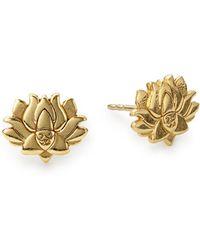 ALEX AND ANI - Lotus Peace Petals Stud Earrings - Lyst