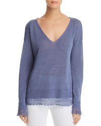 Minnie Rose - Lace-trimmed Layered-look Top - Lyst