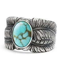 David Yurman - Southwest Cigar Band Feather Ring With Turquoise - Lyst
