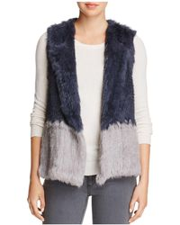 525 America - Two-tone Real Rabbit Fur Vest - Lyst