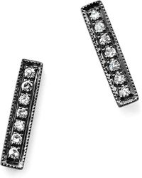 Dana Rebecca - Diamond Sylvie Rose Earrings In 14k Black Rhodium - Lyst