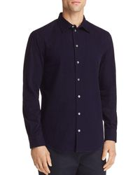 Emporio Armani - Flocked Houndstooth Regular Fit Button-down Shirt - Lyst