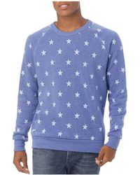 Alternative Apparel - Champ Start-print Fleece Sweatshirt - Lyst