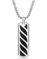 David Yurman - Sterling Silver Graphic Cable Ingot Tag - Lyst