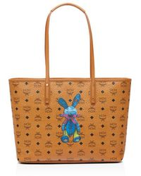 MCM Rabbit East/west Shopper Tote