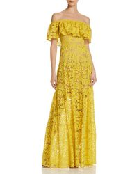 Dress the Population - Reese Off-the-shoulder Lace Gown - Lyst