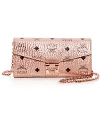 MCM - Patricia Visetos Large Chain Wallet - Lyst