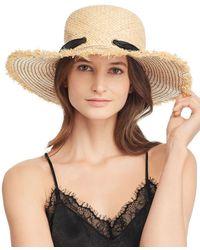 Echo - Silk-tie Raffia Sun Hat - Lyst