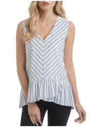 Lyssé - Sloane Striped Drawstring Ruffle-hem Top - Lyst