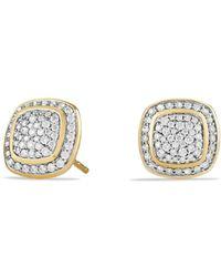 David Yurman - Albion Earrings With Diamonds In 18k Gold - Lyst