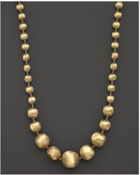 """Marco Bicego - 18k Yellow Gold Africa Graduated Bead Necklace, 18"""" - Lyst"""
