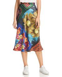 Boutique Moschino - Mixed-print Midi Skirt - Lyst
