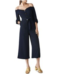Whistles - Carina Off-the-shoulder Jumpsuit - Lyst