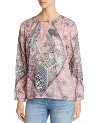 Tolani - Printed Keyhole Top - Lyst