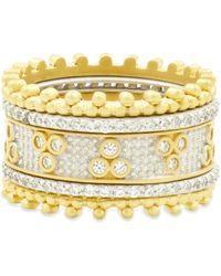 Freida Rothman - Fluer Bloom Stackable Rings - Lyst