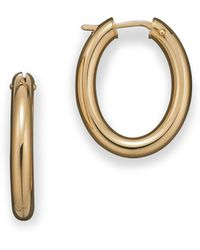 Roberto Coin - 18 Kt. Yellow Gold Small Hoop Earrings - Lyst
