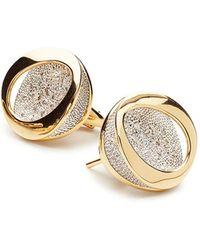 Antonini - 18k Yellow Gold Atolli Diamond Stud Earrings - Lyst