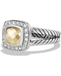 David Yurman - Petite Albion Ring With 18k Gold Dome And Diamonds - Lyst