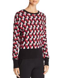 BOSS - Estine Geo Pattern Sweater - Lyst