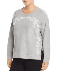 Lucky Brand - Embroidered Cotton Sweatshirt - Lyst