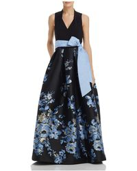 Eliza J - Belted Floral Ball Gown - Lyst