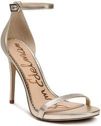 Sam Edelman   Women's Ariella Leather High Heel Ankle Strap Sandals   Lyst