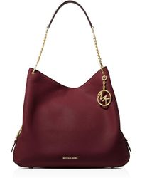MICHAEL Michael Kors - Lillie Large Leather Tote - Lyst