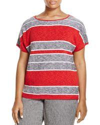 Marina Rinaldi - Adesso Short Sleeve Striped Sweater - Lyst