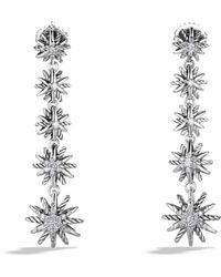 David Yurman - Starburst Drop Earrings With Diamonds - Lyst