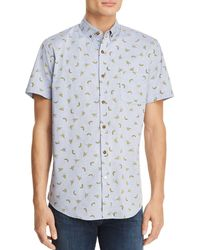Sovereign Code - Crystal Cove Short Sleeve Button-down Shirt - Lyst