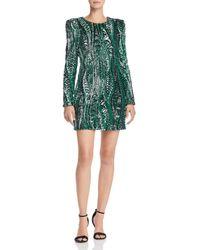 Aqua - Happily Grey X Sequined Mini Dress - Lyst