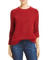 Aqua - Raised Seam Sweater - Lyst