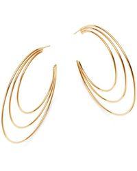 Moon & Meadow - 14k Yellow Gold Polished Triple Open Hoop Earrings - Lyst