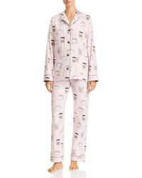 Pj Salvage - Rise & Grind Coffee Print Cotton Pyjama Set - Lyst