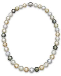 "Bloomingdale's - Cultured South Sea And Tahitian Pearl Necklace, 18"" - Lyst"