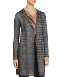St. John - Ribbon Knit Duster Jacket - Lyst